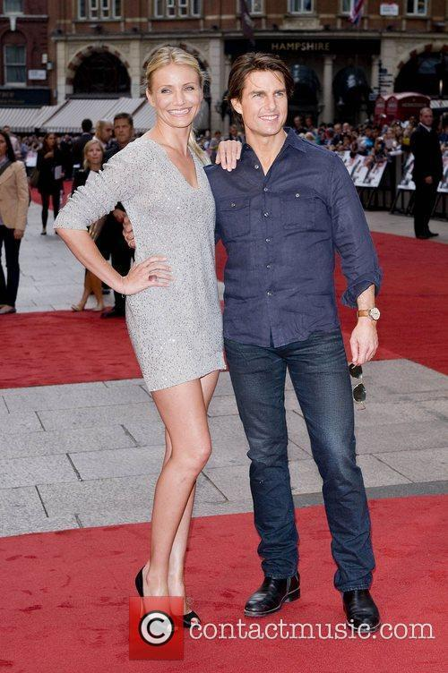 Cameron Diaz and Tom Cruise attend the UK...