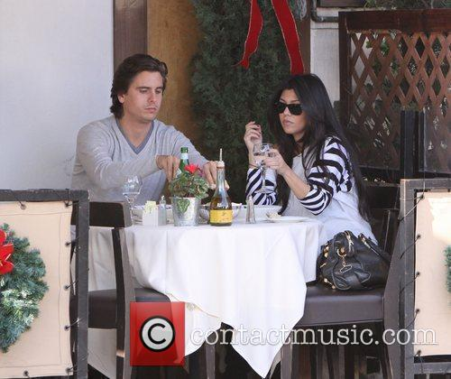 Kourtney Kardashian, Her Fiance, Scott Disick and Having Lunch At A Beverly Hills Restaurant 10