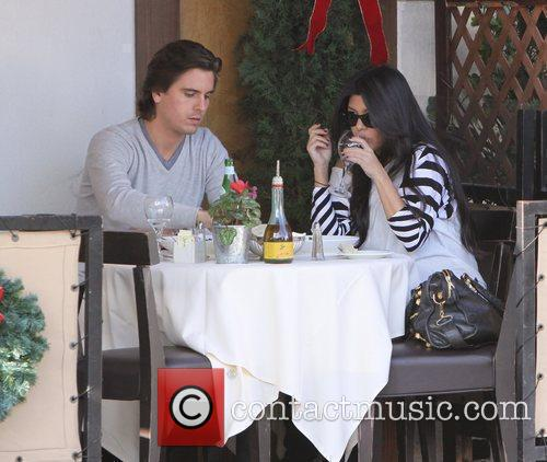 Kourtney Kardashian, Her Fiance, Scott Disick and Having Lunch At A Beverly Hills Restaurant 9