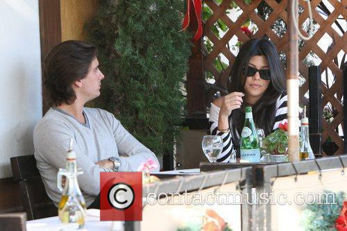 Kourtney Kardashian, Her Fiance, Scott Disick and Having Lunch At A Beverly Hills Restaurant 3