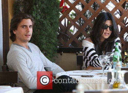 Kourtney Kardashian, her fiance, Scott Disick and having lunch at a Beverly Hills restaurant 9