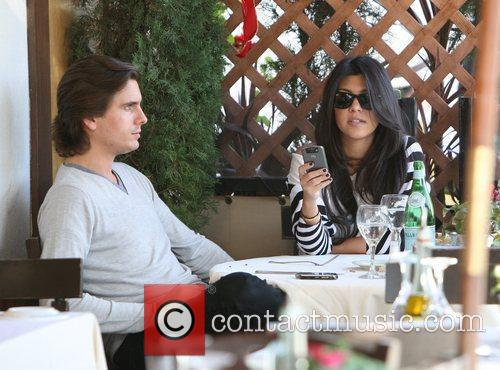 Kourtney Kardashian, her fiance, Scott Disick and having lunch at a Beverly Hills restaurant 4