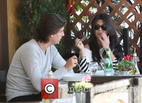 Kourtney Kardashian, Her Fiance, Scott Disick and Having Lunch At A Beverly Hills Restaurant 8