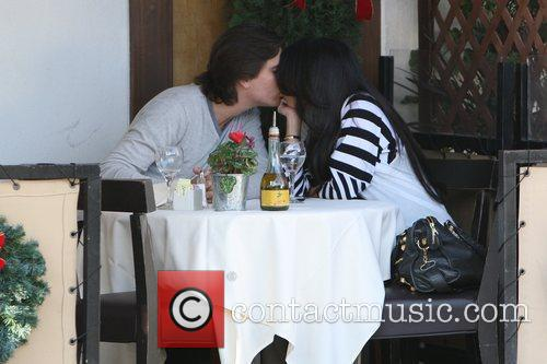 Kourtney Kardashian, Her Fiance, Scott Disick and Having Lunch At A Beverly Hills Restaurant 1