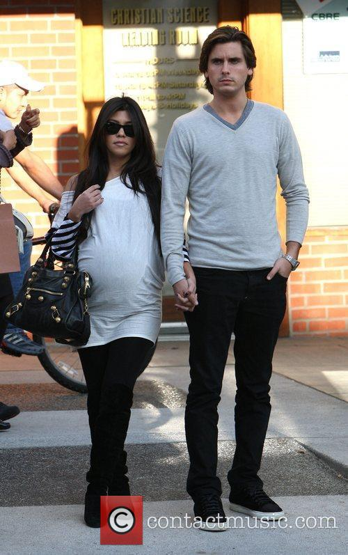 Kourtney Kardashian, Her Fiance, Scott Disick and Seen Walking After Having Lunch At A Beverly Hills Restaurant 11