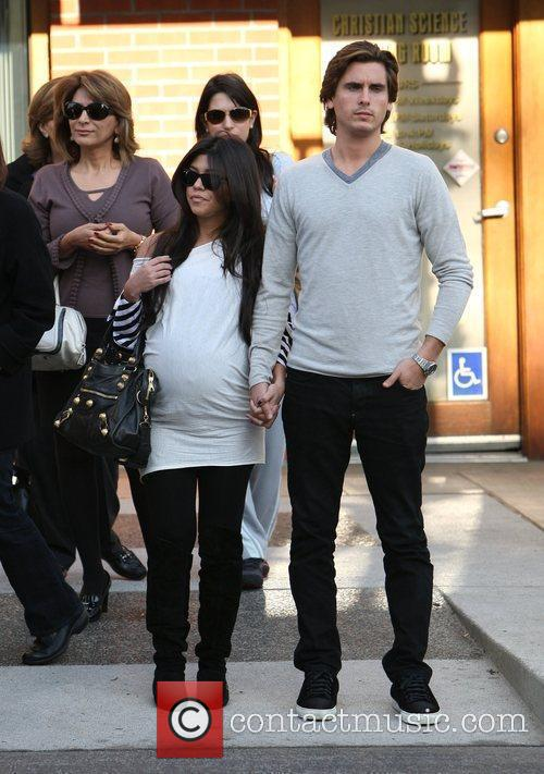 Kourtney Kardashian, Her Fiance, Scott Disick and Seen Walking After Having Lunch At A Beverly Hills Restaurant 2