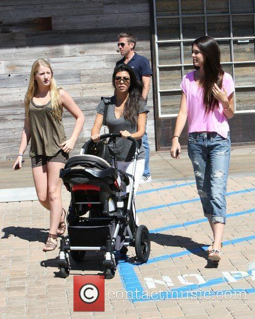 Kourtney Kardashian, Kendall Jenner (r) and A Family Friend Take Kourtney's Son Mason For A Day Out At Cross Creek In Malibu 6