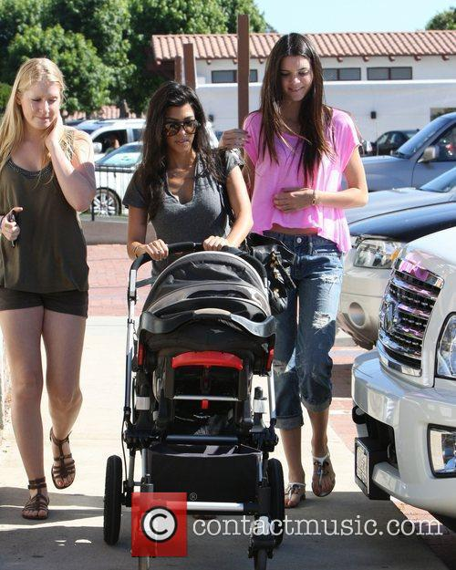 Kourtney Kardashian, Kendall Jenner (r) and A Family Friend Take Kourtney's Son Mason For A Day Out At Cross Creek In Malibu 7