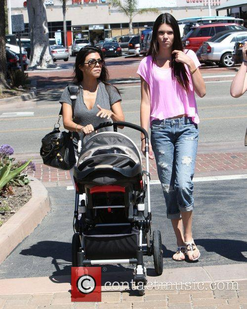 Kourtney Kardashian and Kendall Jenner take Kourtney's son...