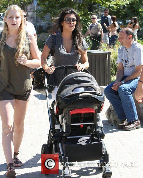 Kourtney Kardashian takes her son Mason for a...