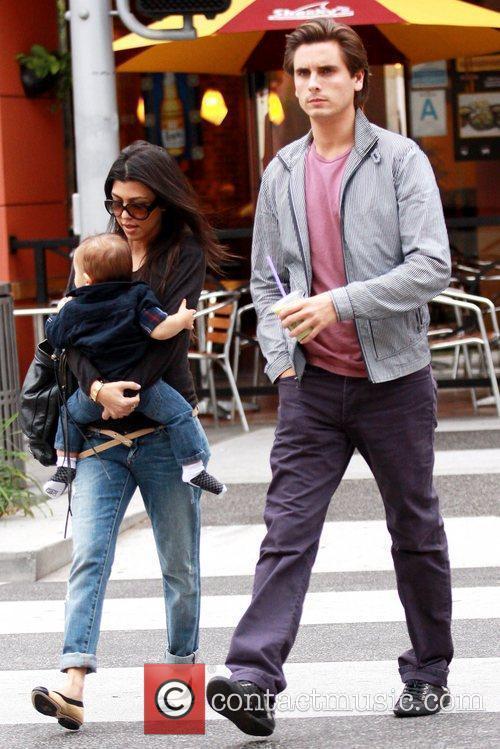 Kourtney Kardashian and her husband Scott Disick out...