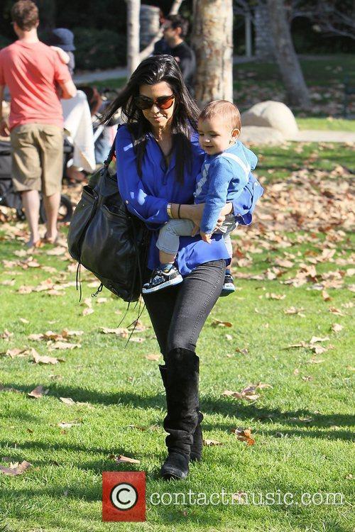 Kourtney Kardashian takes her son Mason to a...