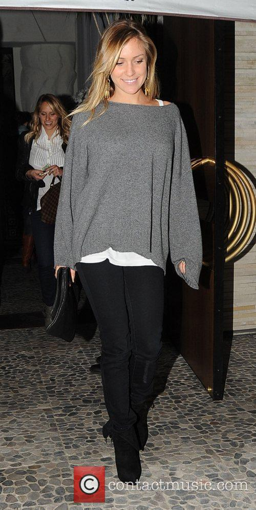 Kristin Cavallari leaving Red O restaurant after having...