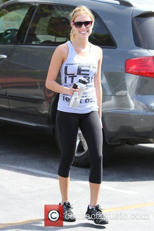 Kristin Cavallari leaving Iron gym in Santa Monica...