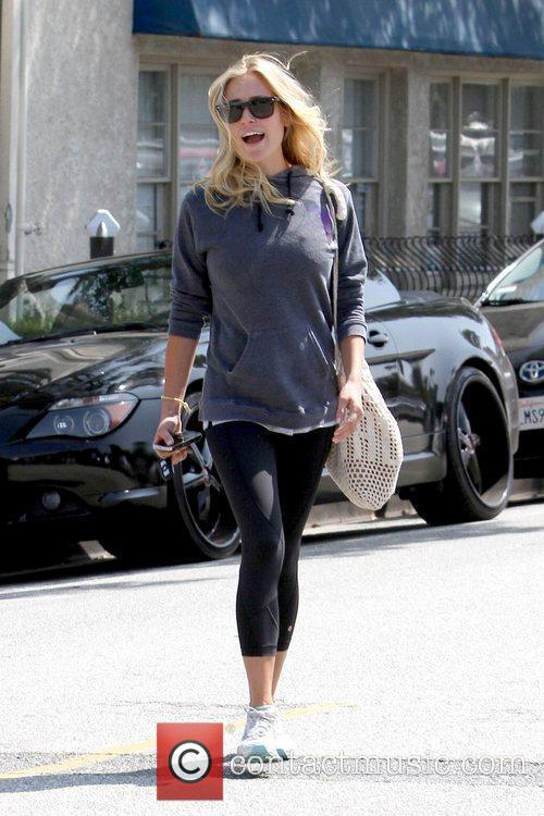 Leaving Neil George Salon in Beverly Hills