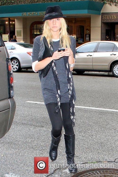 Arriving at Anastasia salon in Beverly Hills while...