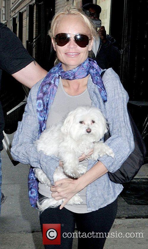 Kristin Chenoweth 'Promises, Promises' star walking through midtown...