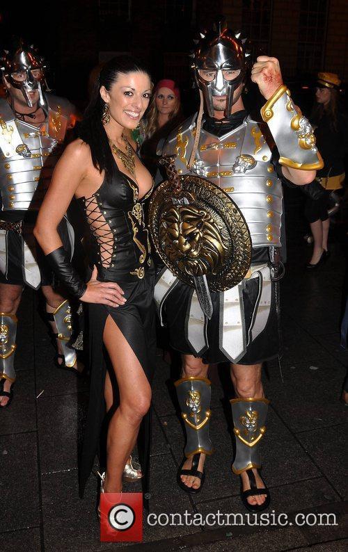 Louise MacIntyre, Michael Hannon Krystle nightclub's Halloween 2010...