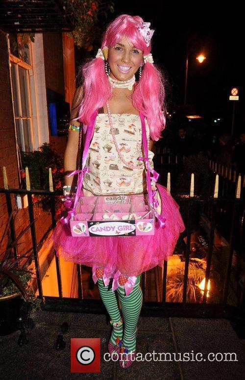 Julie Kavanagh Krystle nightclub's Halloween 2010 party...