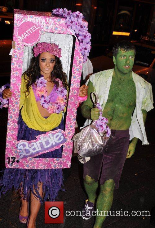 Giovanna Borza, Marcus Heather Krystle nightclub's Halloween 2010...