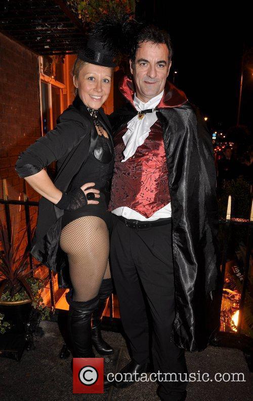 Sonja Mohlich, CJ Rooney Krystle nightclub's Halloween 2010...
