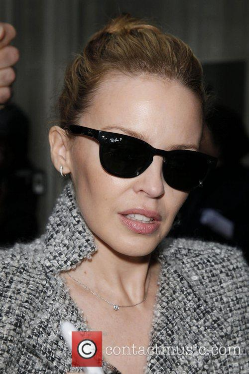 Kylie Minogue arriving at the BBC Radio 2...