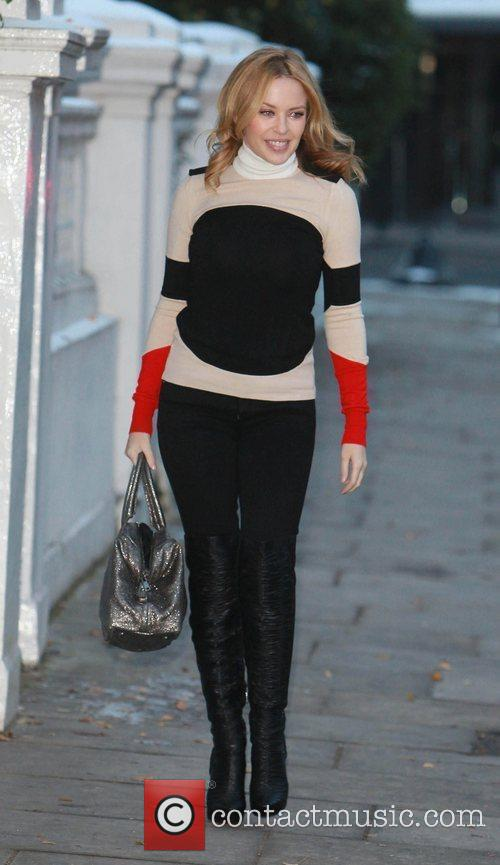Kylie Minogue leaving her home  London, England