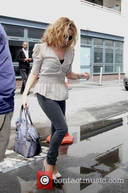 Kylie Minogue arriving at her managements offices London,...