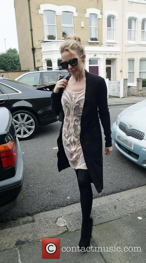 Arriving at a studio in west London
