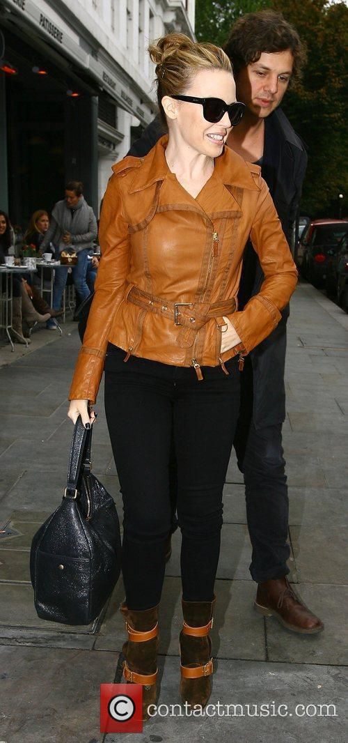 Kylie Minogue on her way to a meeting...