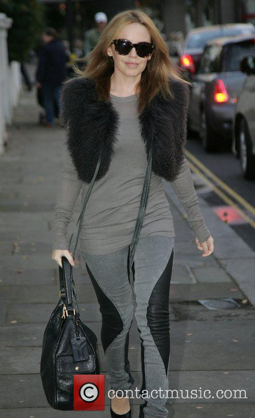 Kylie Minogue leaving her house in London London,...