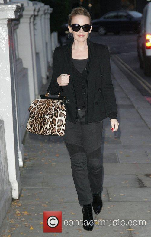 Kylie Minogue leaving her home in London London,...
