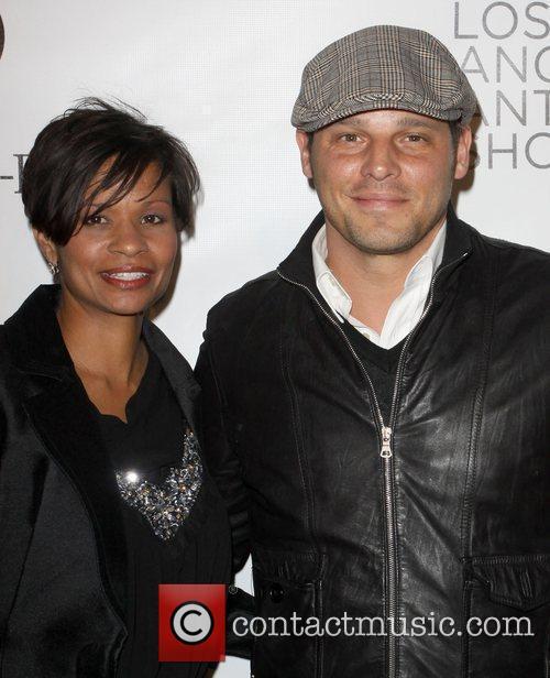 Justin Chambers and wife Keisha Chambers Opening night...