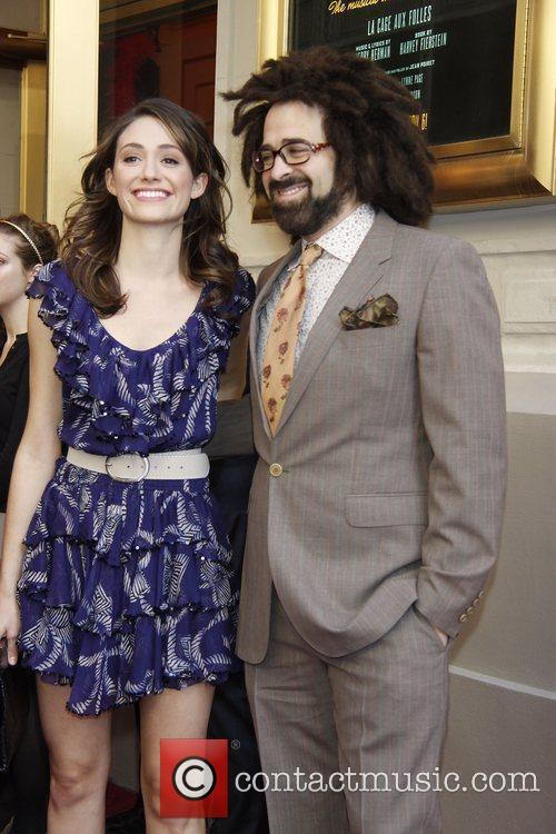 Emmy Rossum and Adam Duritz attending the opening...