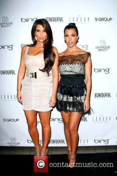 Kim Kardashian and Kourtney Kardashian 9