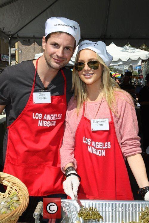 Brandon Molale and Stephanie Pratt Los Angeles Easter...