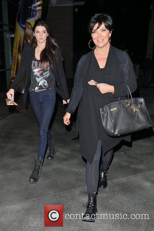 Kris and Kendall Jenner leave the Staples Center...
