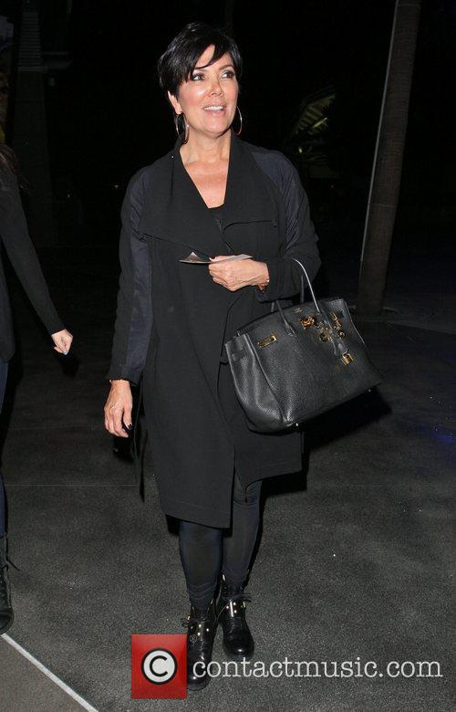 Kris Jenner leaves the Staples Center after watching...