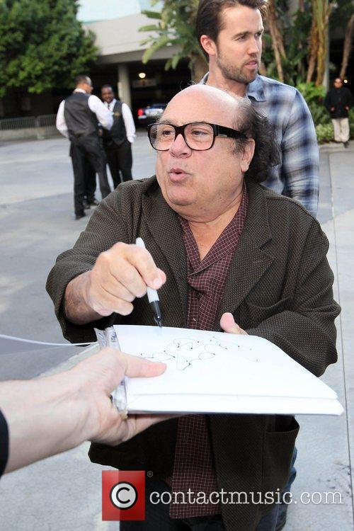 Danny DeVito arriving at the Staples Center to...
