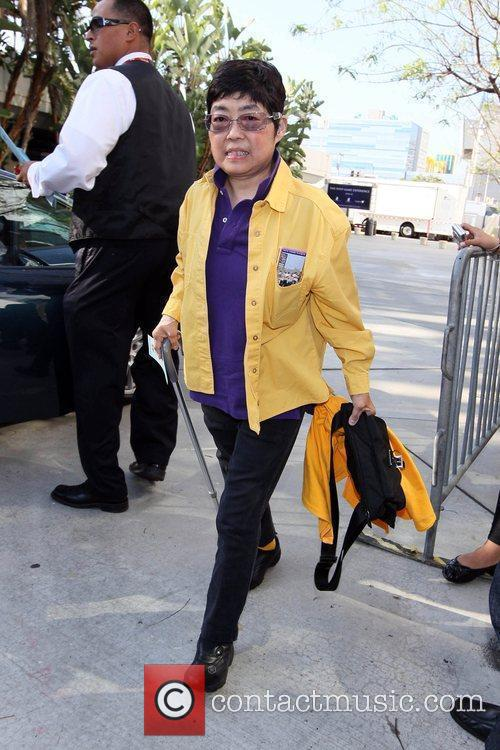 Tida Woods arriving at the Staples Center to...