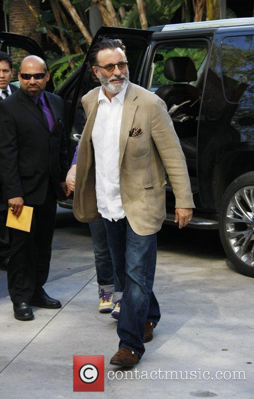 Andy Garcia  arriving at the Staples Center...
