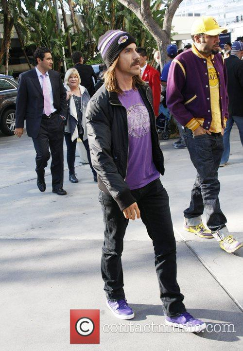 Anthony Keidis  arriving at the Staples Center...