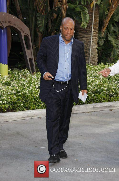 Byron Allen  arriving at the Staples Center...