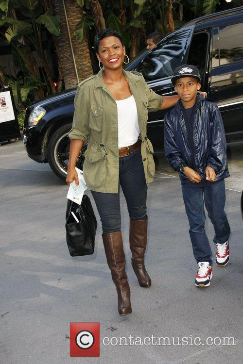 Nia Long  arriving at the Staples Center...