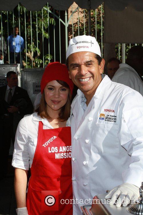 Alyssa Milano and LA Mayor Antonio Villaraigosa Celebrities...