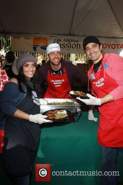 Carole Marini, Zachary Levi, Gille Marini Celebrities volunteer...