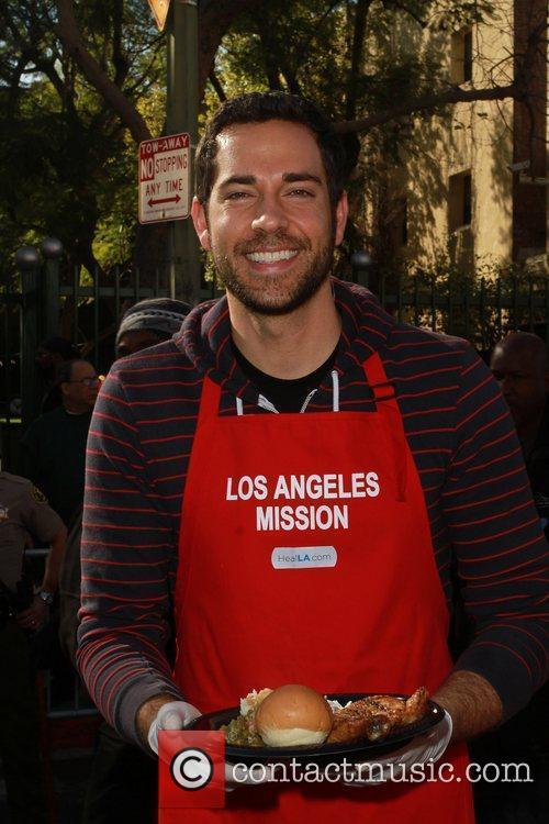 Zachary Levi  Celebrities volunteer on Christmas Eve...