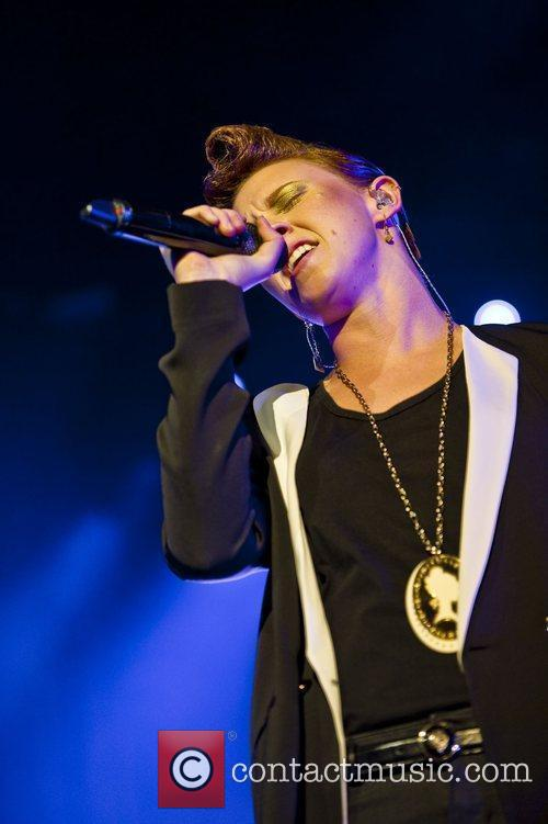 La Roux performing live at Brixton Academy in...