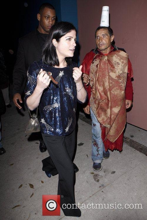 Selma Blair leaving La Vida restaurant in Hollywood...
