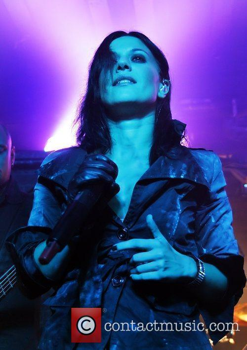 Cristina Scabbia of Lacuna Coil performing at Liverpool...
